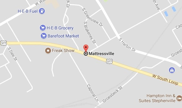 A Google Map of Mattressville