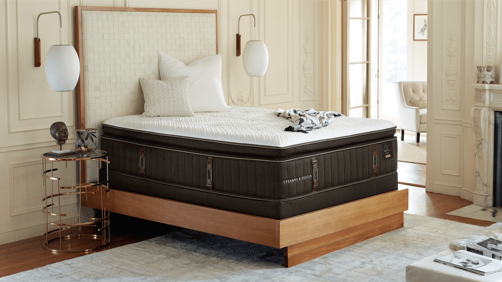An image of a Stearns & Foster Mattress bedroom